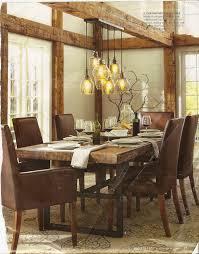 diy dining room lighting ideas. Pottery Barn Dining Room With Rustic Glass Pendant Lights Diy Lighting Ideas