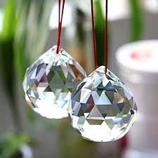ownmy suncatcher prism ball 2 inch hanging crystal ball prism faceted chandelier ball rainbow maker for window wedding car decor pack of 2
