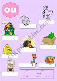 250 free phonics worksheets covering all 44 sounds, reading, spelling, sight words and sentences! Phonics 4 Ou Esl Worksheet By Machla
