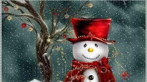 free christmas desktop wallpaper. Plain Christmas A Snowman Wearing Red Intended Free Christmas Desktop Wallpaper S