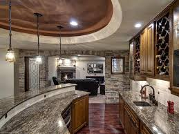 kitchen amazing home bar countertop ideas with best grey granite countertop and kitchen cabinet also brick stone wall theme and round ceiling and best