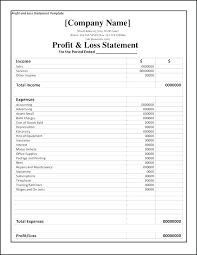 Profit Loss Statement Self Employed Free Profit Loss Statement Template Kubreeuforicco