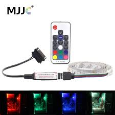 Computer Case Led Light Strips Us 1 77 42 Off Rgb Pc Housing Led Strip Computer Case 5050 Led Stripes Pc Case Led 12v Sata Rf Interface Wireless 1m 2m Rgb Tape For Computer In Led