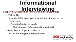 thank you informational interview informational interviewing before you view this powerpoint go to
