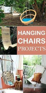 if you want to make a hanging chair by yourself here are creative ideas inspire swinging