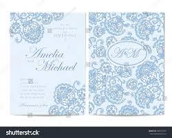 Light Blue Wedding Invitations Elegant Wedding Invitation Card Template Light Stock Vector