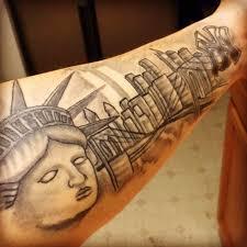 Tattoo Uploaded By Steven Rosario New York Skyline Tattoo Raised
