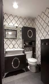 Black & White Powder Room