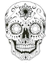 Inspirational Skull Coloring Pages For Adults Or Sugar Skull