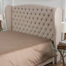 Wingback upholstered headboard Man Cadmore Upholstered Wingback Headboard Size Kingcalifornia King Upholstery Light Beige Bed Headboards Buy Lillibridge Upholstered Wingback Headboard Size King