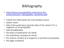 Bibliography Project Custom Paper Sample