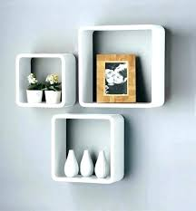 cube wall shelves shelf new set of 3 white black square floating box ikea wa
