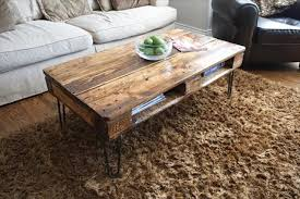 Diy Pallet Coffee Table With Hairpin Legs  Home Decorating IdeasPallet Coffee Table With Hairpin Legs