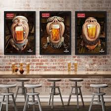 neoteric beer wall art j e r m y n watercolor exaggerated picture oil canva abstract painting print poster coffee bar