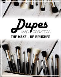 m a c cosmetics make up brush dupes from crownbrush uk