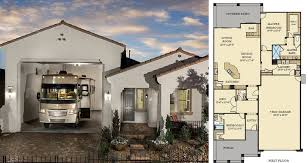 the best of house plans with rv storage garage attached floor home and tiny