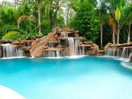 Houston Pool With Artificial Rock Waterfalls Pieces Of My Dream