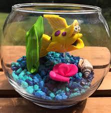 Small Fish Bowl Decorations Fish Bowl Aquarium Small Fish Bowl Pet Fish Clay Fish 29