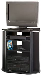Tall Corner TV Stand, Black Finish - Entertainment Centers And Tv ...