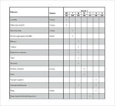Toddler Chore Chart Template Chore Chart Template