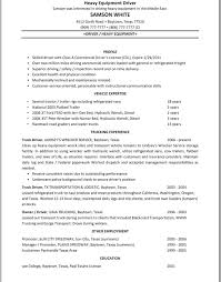 Trucking Resume Sample Truck Driver Resume Sample Commercial Cdl Heavy Samples Templates 20