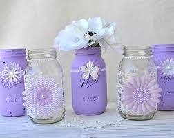 Decorating Mason Jars For Baby Shower Purple mason jars Etsy 28