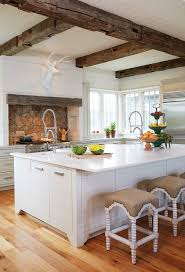 Image Decorating Ideas Decorpad Country Kitchen With Rustic Wood Ceiling Beams Country