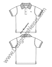 014 kids illustrator flat sketch toddler infant polo shirt preview toddler infant polo shirt v14 kids illustrator fashion flat on polo shirt design template