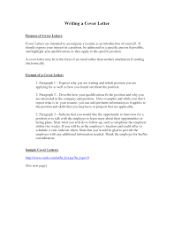 Cover Letter Purpose Of Resume Cover Letter Purpose Of Resume