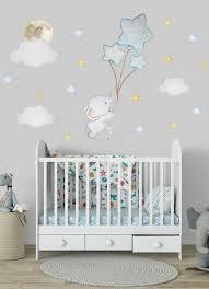 elephant nursery wall