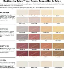 Armstead Paint Colour Chart Dulux Heritage Dh White