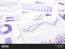 Business Charts And Graphs Purple Business Charts Image Photo Free Trial Bigstock