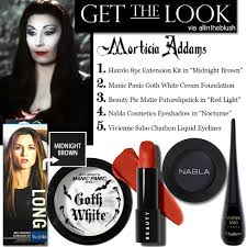 morticia addams makeup how to