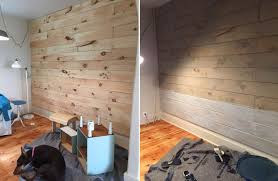 view in gallery installing wood wall planks