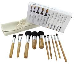 eta ultra natural goat hair premium makeup brush set 10 pcs bamboo in gift package walmart