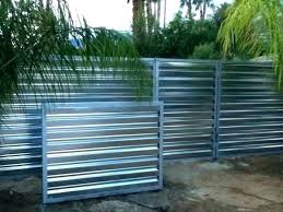design ideas 7 corrugated metal fence with candles contemporary privacy for your