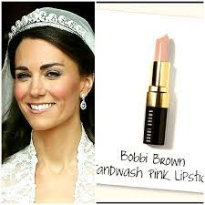 so it makes sense for kate to wear a lighter shade of lipstick according to bobbi brown kate wore sandwash pink lipstick on her wedding day which is a