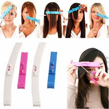 hair cutting haircut guide ruler layer bang style clip comb fringe cut diy tool