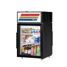 true gdm 5pt ld pass through countertop display refrigerator with swing door 5 cu ft