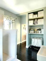 bathroom laundry bin cabinet with stool basket hamper