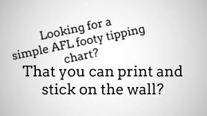 Afl Tipping Chart 2018 Printable Afl Footy Tipping 2015 In Microsoft Word And Excel Youtube