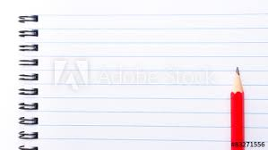 Copy Page White Blank Notebook Page With Copy Space Buy This Stock