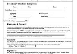 Free Sample Of Bill Of Sale For Used Car With Printable Bill Sale ...