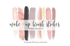 brush strokes clipart pink makeup
