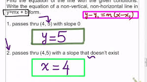 equation of line given a point and undefined slope you form maxresde slope point form form