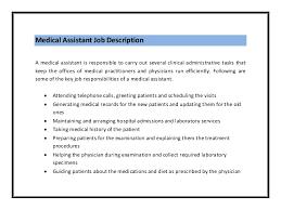 Executive Assistant Job Description Impressive Medical Assistant Duties List Morenimpulsarco