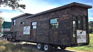 trailers for tiny houses. Tiny Home Gooseneck Trailer Charred-Wood Exterior Stand-Up Bedroom | Small House Design Ideas Trailers For Houses