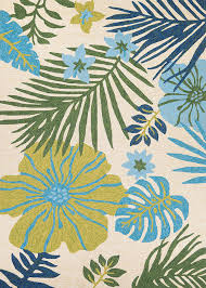 couristan covington 5356 3561 summer laelia ivory fern indoor outdoor area rug