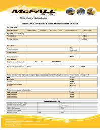 Printable Credit Application Form Terms And Conditions Templates To