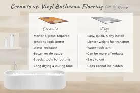 ceramic vinyl flooring bathroom